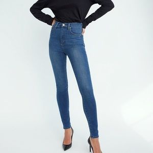 Denim Forum Aritzia the Lola High Rise Skinny Jeans